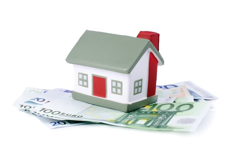 The toy house for euro banknotes isolated Stock Photo - 13907275