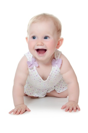 The small baby isolated on white background Stock Photo - 14849945