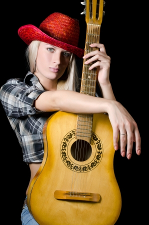 country music: The beautiful girl in a cowboys hat