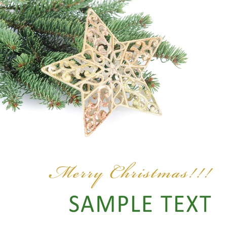 The christmas and New Year Border  isolated Stockfoto