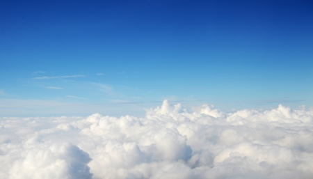 above view: atmosphere - sky and clouds background