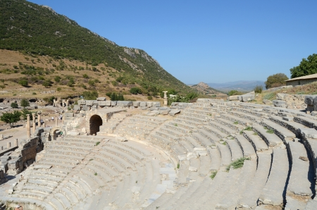 legendary: Roman theater in legendary Ephesus, Turkey