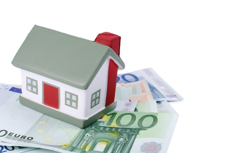 toy house for euro isolated on white Stock Photo - 15979024