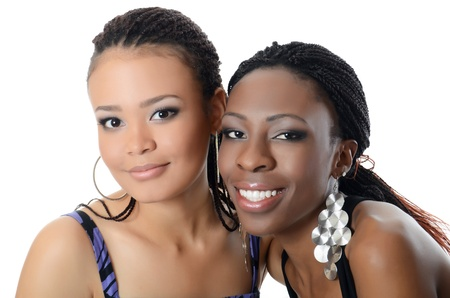 helpmate: The girl the mulatto and black girl Stock Photo