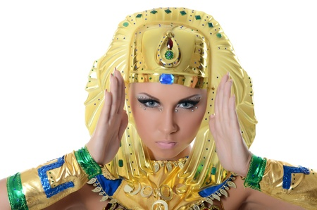 The girl-dancer in costume of the Pharaoh Stock Photo - 16036900