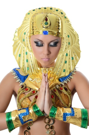 The girl-dancer in costume of the Pharaoh Stock Photo - 16243732