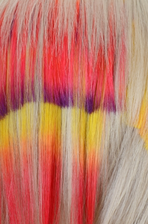 strand of hair: Hair with multi-coloured strand as a background