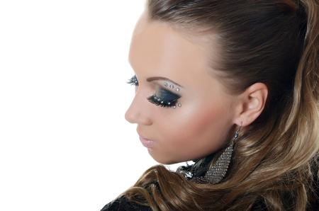 pastes: Portrait of beautiful girl - Creative make-up