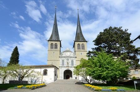 high priest: Luzerne - Hofkirche cathedral, Switzerland