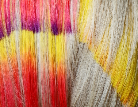 Hair with multi-coloured strand as a background Stock Photo - 17688564
