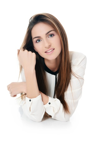 The young beautiful girl with natural make-up photo