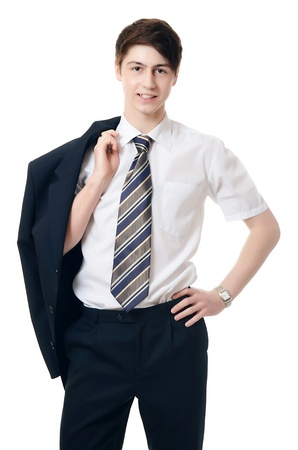 The businessman in a business suit isolated photo