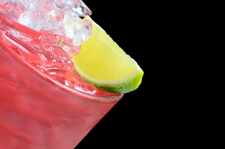 freshening: The freshening cocktail with ice and lime
