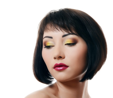 Portrait of beautiful woman with professional make-up photo