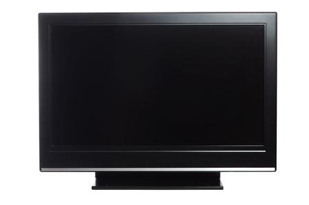 flatscreen: flat screen tv isolated on white background