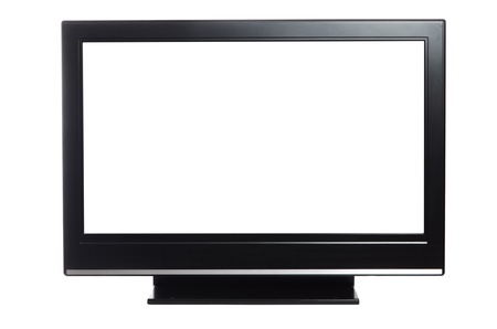 flat screen tv: flat screen tv isolated on white background