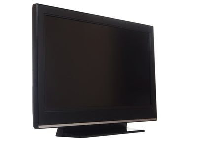 flat screen tv isolated on white background photo