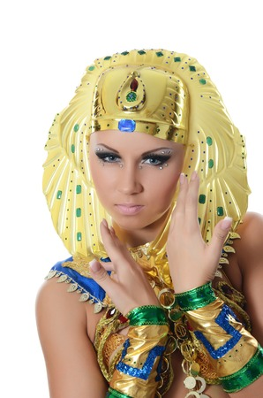 The girl-dancer in costume of the Pharaoh photo