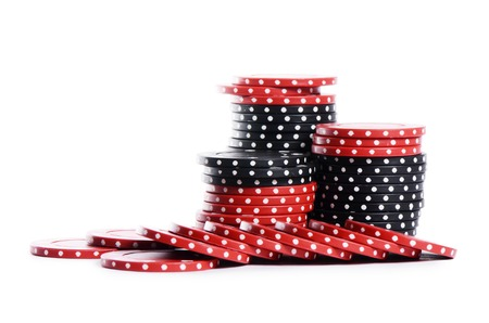 casino chips: The casino chips isolated on white background Stock Photo