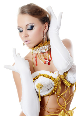 antiquities: The girl-dancer in costume of the empress Stock Photo
