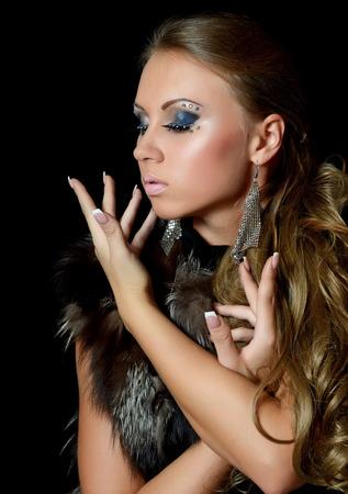 Portrait of beautiful girl - Creative make-up photo