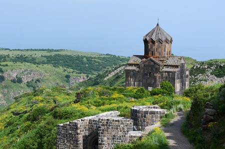 Church in the Armenian Caucasus near the Amberd fort photo