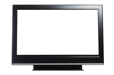 flat display panel: flat screen tv isolated on white background