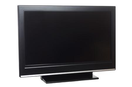Flatscreen-tv geïsoleerd op een witte achtergrond Stockfoto