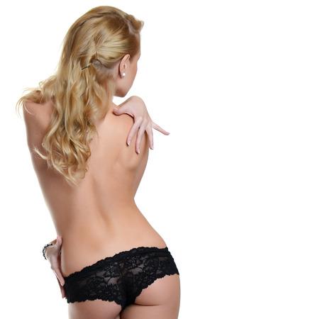 modelos posando: Retrato de la hermosa mujer rubia sexy Foto de archivo