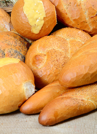 several: Several different kinds of bread Stock Photo