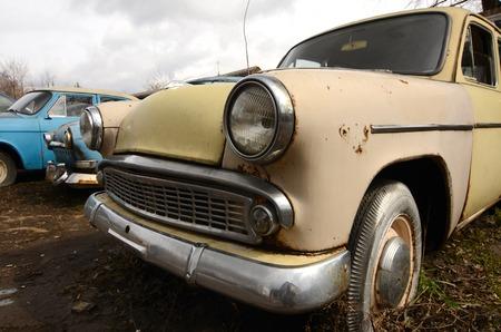 rusty car: The old rusty car close up Stock Photo