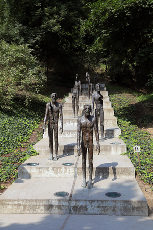 Monument to the Victims of Communism in Prague. A number of statues in Prague in memory of the victims of Communist rule in the period 1948-1989