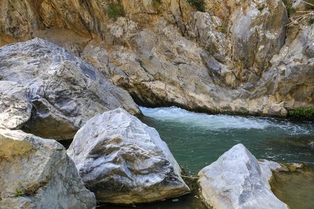 Creek in the mountain Samaria Gorge