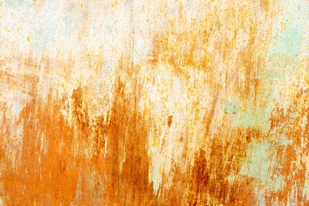 rusty metal background with yellow spots