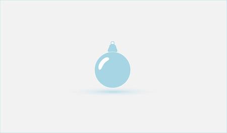 minimalistic: Christmas ball. Minimalistic design