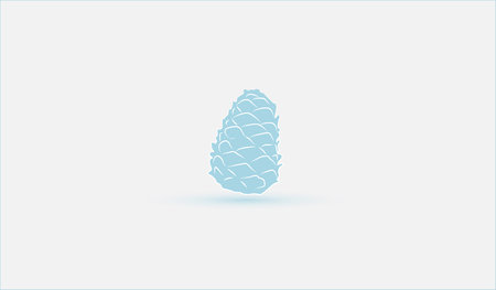 pinecone: Christmas pinecone. Decoration in blue ornament. Illustration