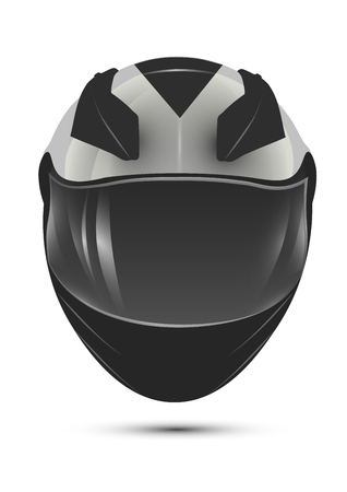helmet moto: casco de la motocicleta. realista vector aislado icono. Vectores