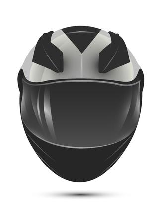 casco de moto: casco de la motocicleta. realista vector aislado icono. Vectores