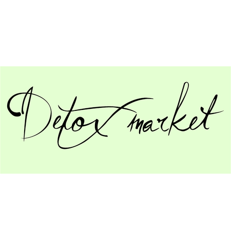 toxins: Detox market. The  calligraphy. The concept of healthy shop. Dietary store. illustration Illustration