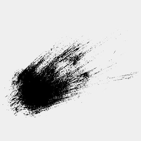 Hand drawn brush paint. Label, logo design element. Vector illustration.