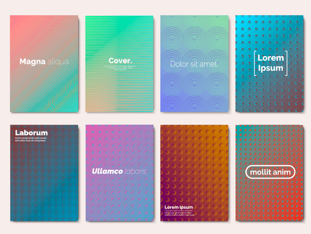 Gradient covers set. Cool halftone gradients. Futuristic design posters. Future Poster template. Vector Eps 10 Illustration