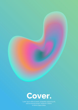 Fluid shape composition. Futuristic design posters. Abstract gradients background. Future Poster template. Vector Eps 10 Illustration