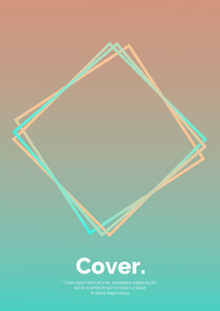 Geometrical shapes composition. Futuristic design posters. Abstract gradients background. Future Poster template. Vector Eps 10