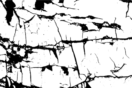 crack: Distressed overlay texture of cracked concrete. grunge background. abstract halftone vector illustration Illustration