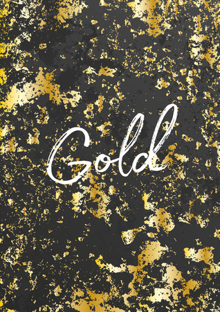 foil: Gold grunge texture. Golden elements. Distressed effect. Stylish modern background decoration. Vector illustration