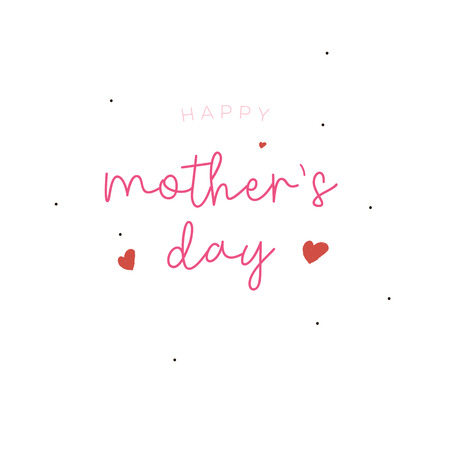 Mother's day greeting card brush paint background.