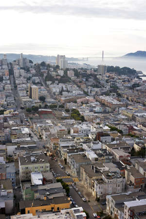 High angle view looking down over the streets of San Francisco Stock Photo