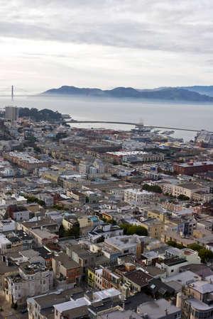 high angle view of San Francisco Stock Photo