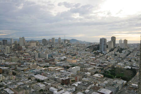 A high angle view looking out over San Francisco Stock Photo
