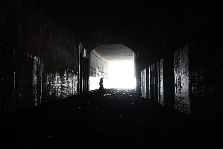 darkness: Light in the tunnel